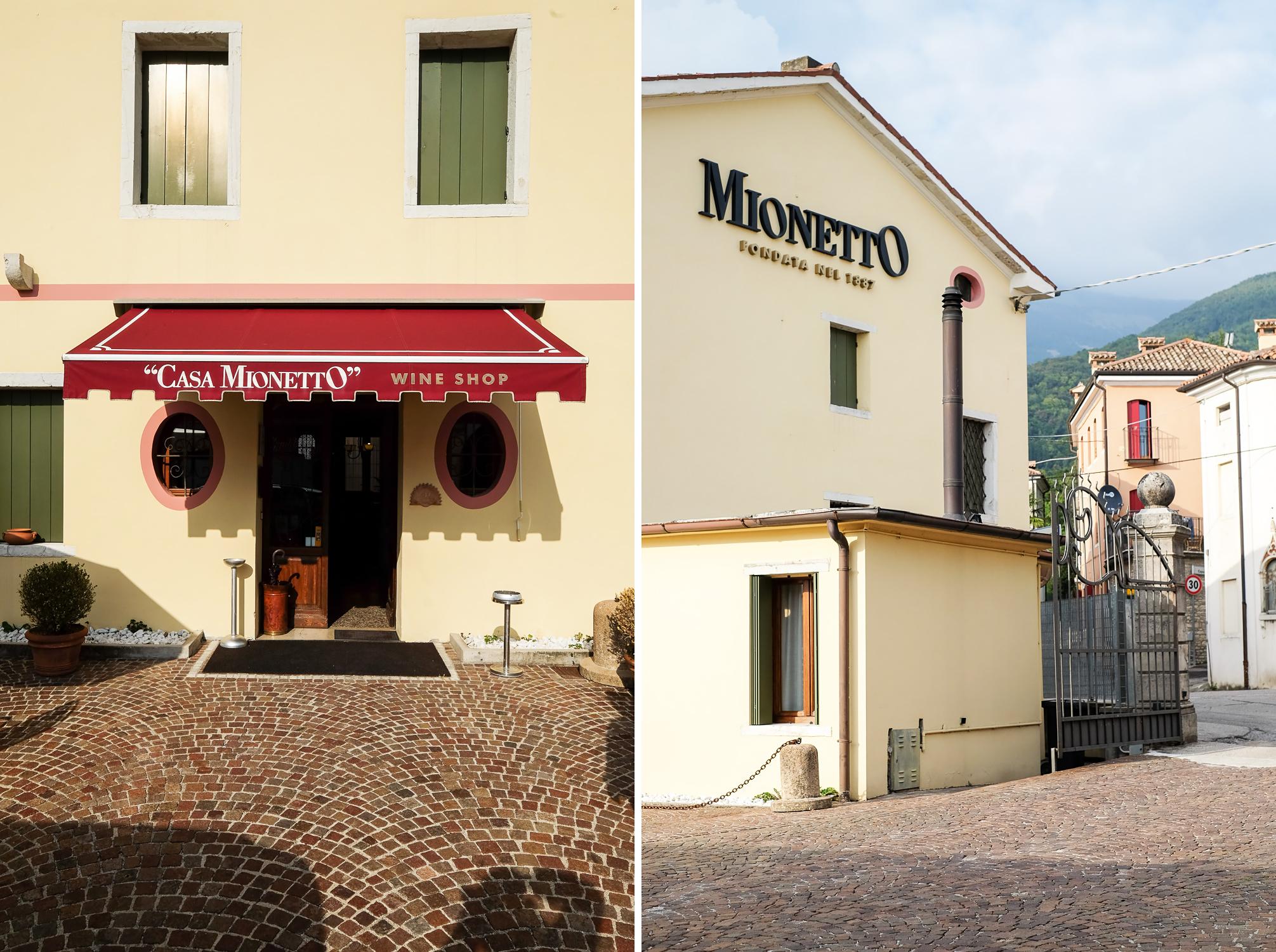 The home of Mionetto prosecco sparkling wine founded in 1887 in Valdobbiadene, Veneto