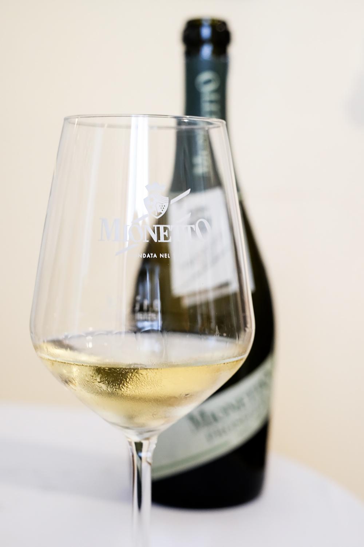 Mionetto Prosecco sparkling wine is produced from Glera grapes in Valdobbiadene, Veneto, Italy
