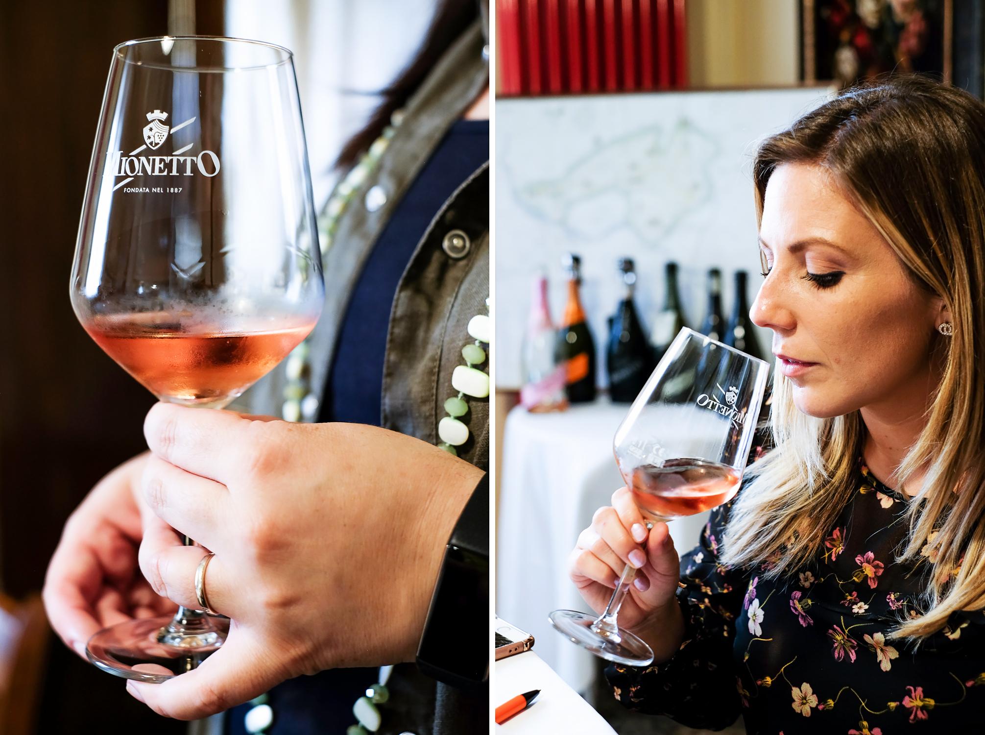 Mionetto Prosecco Rosé Extra Dry is a sparkling wine produced in Valdobbiadene in Veneto, Italy