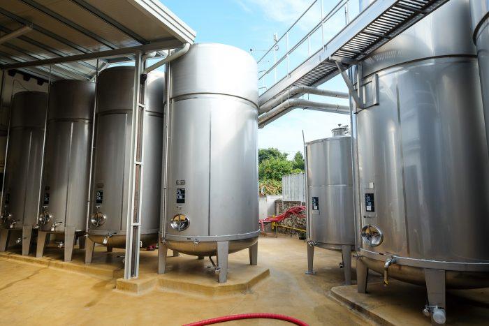The production site of Mionetto, where prosecco sparkling wine is fermented, in Valdobbiadene, Veneto