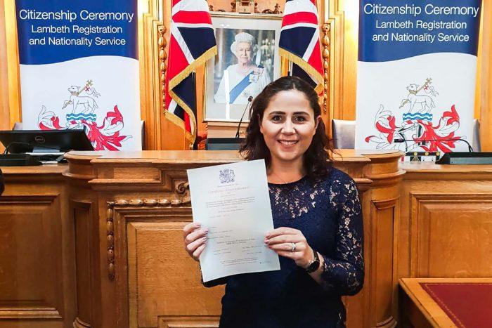 My British citizenship ceremony at Lambeth Town Hall | Mondomulia
