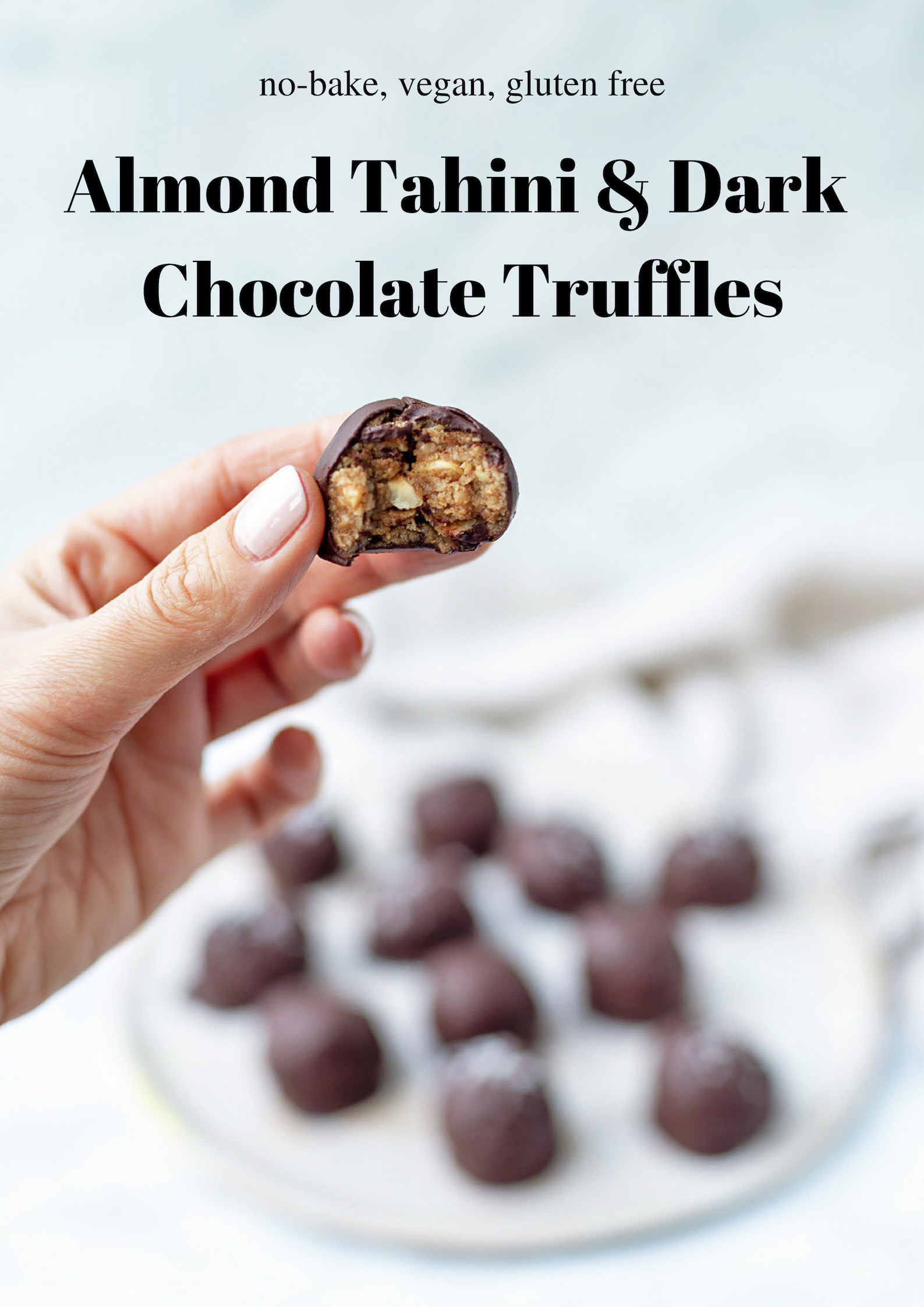 An indulgent vegan superfood treat: Almond, Tahini and Dark Chocolate Truffles | Mondomulia