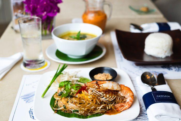 Pad Thai at Cascade Café at Amari Watergate hotel in Bangkok