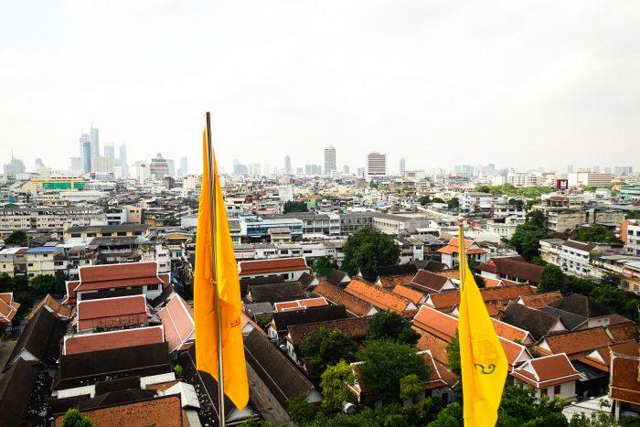 View from the Golden Mount temple, Bangkok Thailand | Mondomulia
