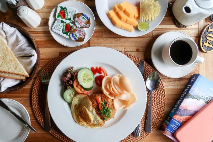 Nasi goreng, Breakfast in Ubud, Bali, Indonesia