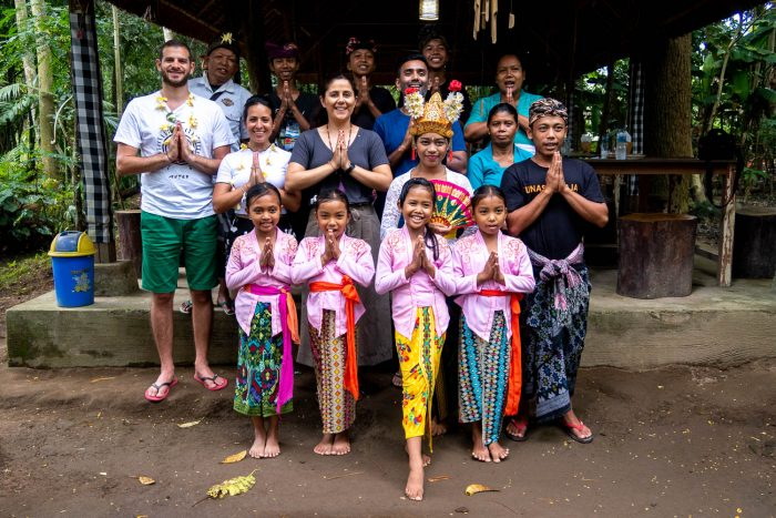A tour of a local Balinese village organised by five pillar foundation