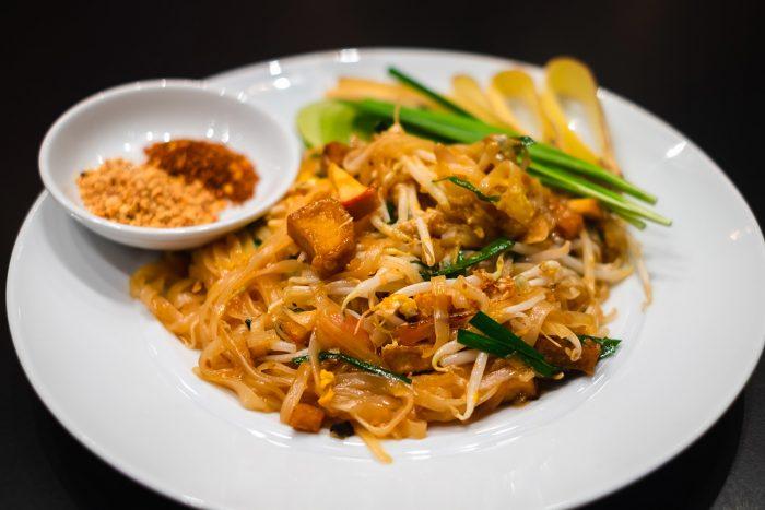 Pad Thai at Amaya Food Gallery at Amari Watergate hotel in Bangkok, Thailand
