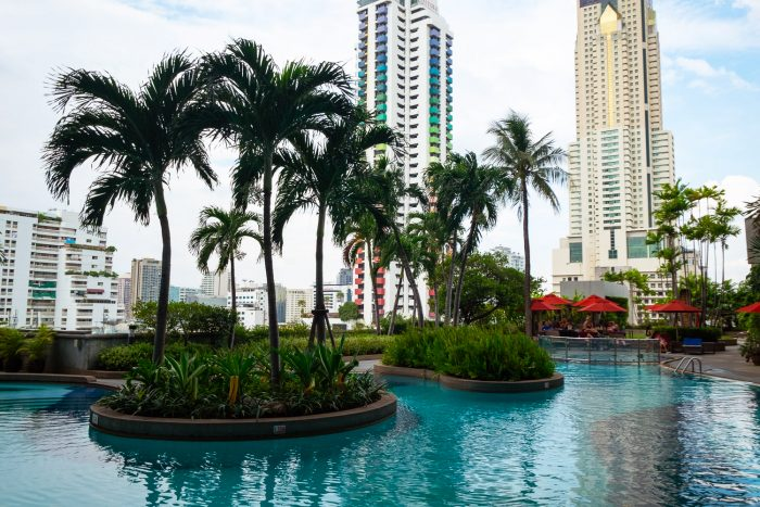 Outdoor garden terrace on the 8th floor of Amari Watergate | A Four-Day Guide to Bangkok by Mondomulia