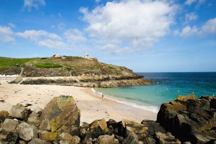 St Ives beach in Cornwall, Great Britain