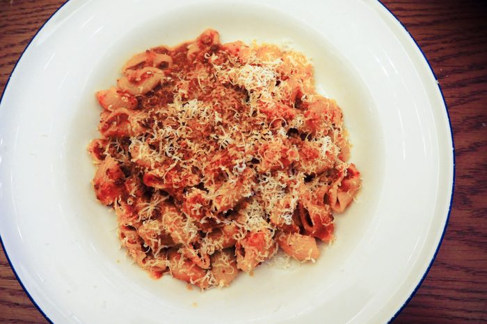 Maccheroni pasta alla Bolognese | Chucs Dover street is a cosy spot for an Italian brunch in Mayfair, London | Mondomulia