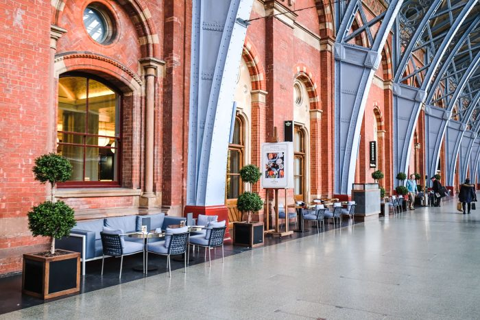 St Pancras Brasserie by Searcys on the Grand Terrace at St Pancras International railway station in London | Photography by Mondomulia