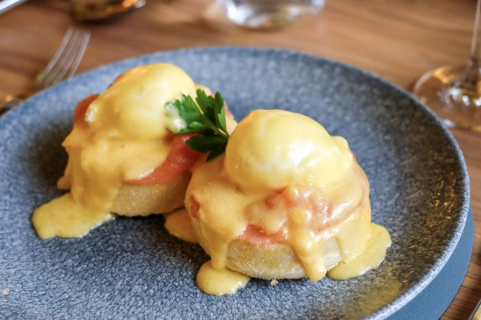 Eggs Royale | Brunch at St Pancras Brasserie by Searcys on the Grand Terrace at St Pancras International railway station in London | Photography by Mondomulia