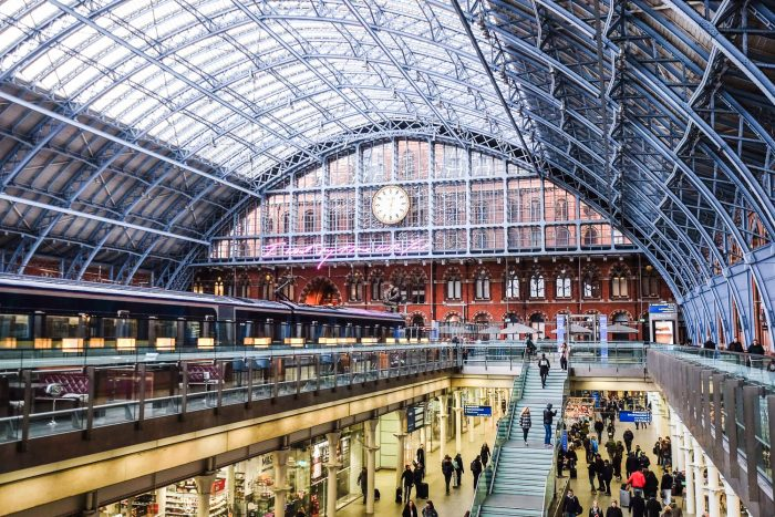 St Pancras International in London is where the Eurostar train to Paris departs from.
