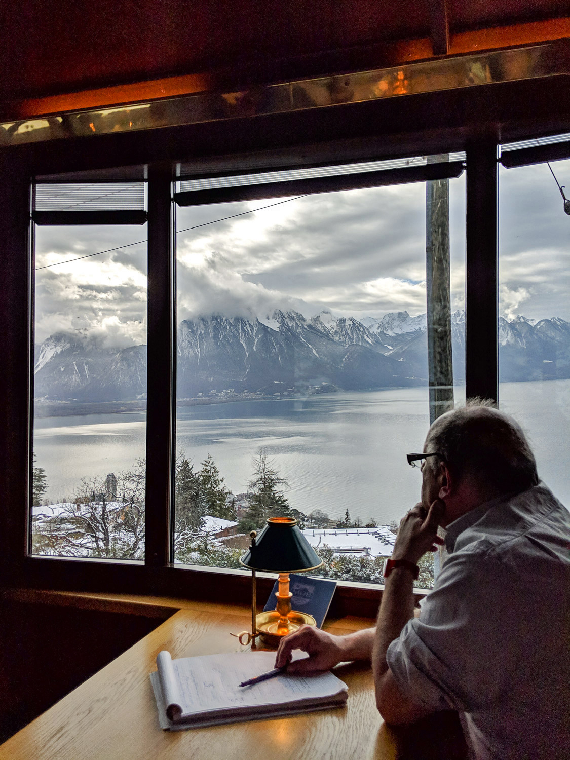 The GoldenPass train from Montreux to Gstaad offers dramatic views of Lake Geneva, Switzerland