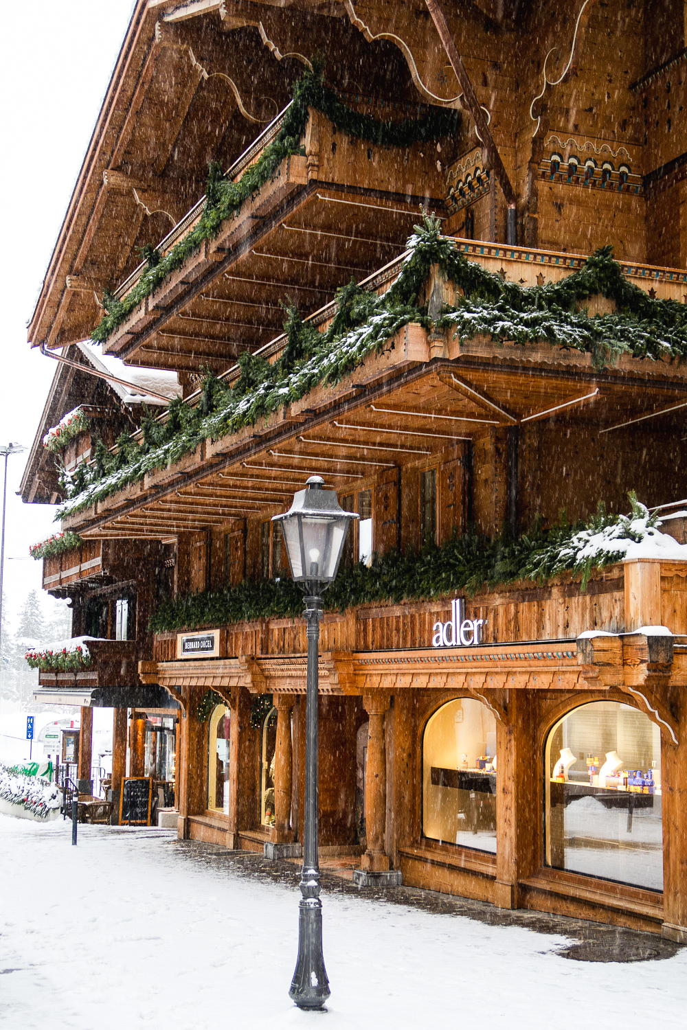 The charming town of Gstaad in south-western Switzerland is a popular holiday destination for ski lovers and for the International jet-set