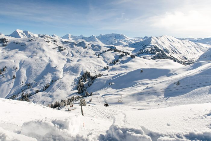 Gstaad in south-western Switzerland is a popular holiday destination for ski lovers and one of the largest ski resorts in the Alps
