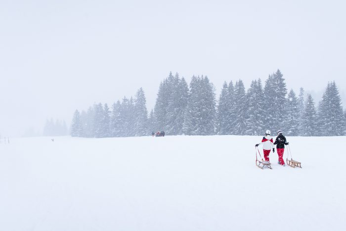 Tobogganing | Gstaad in south-western Switzerland is a popular holiday destination for ski lovers and one of the largest ski resorts in the Alps