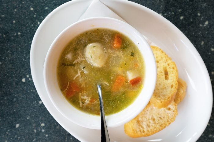 Bajan chicken soup with dumplings at Waterfront Café in Bridgetown | Lickrish Tours | A 5-Day Itinerary of What to See and Eat around Barbados
