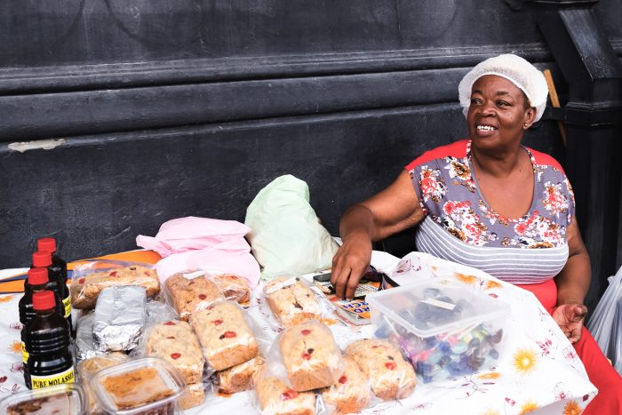 "Getting a taste of Bajan ""sweetbread"" and sugar cakes 