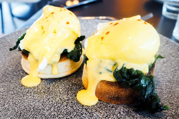 Eggs Florentine - VIVI Restaurant & Bar at Centre Point in Tottenham Court Road, London