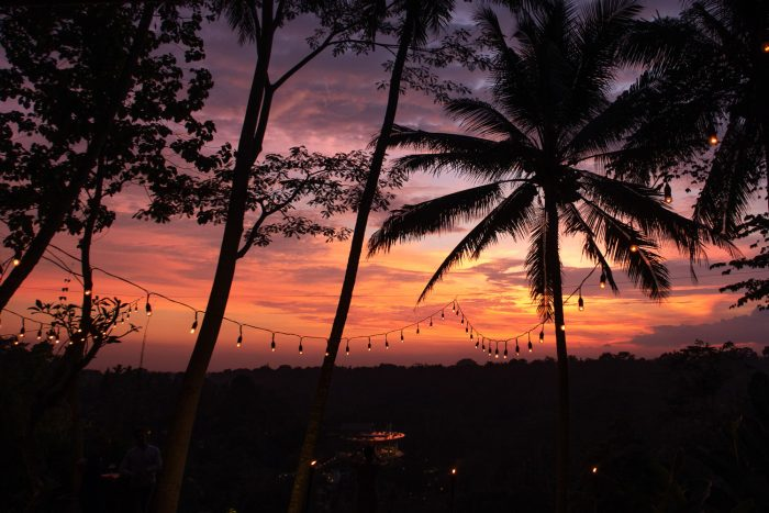 Colourful sunset in Bali, Indonesia