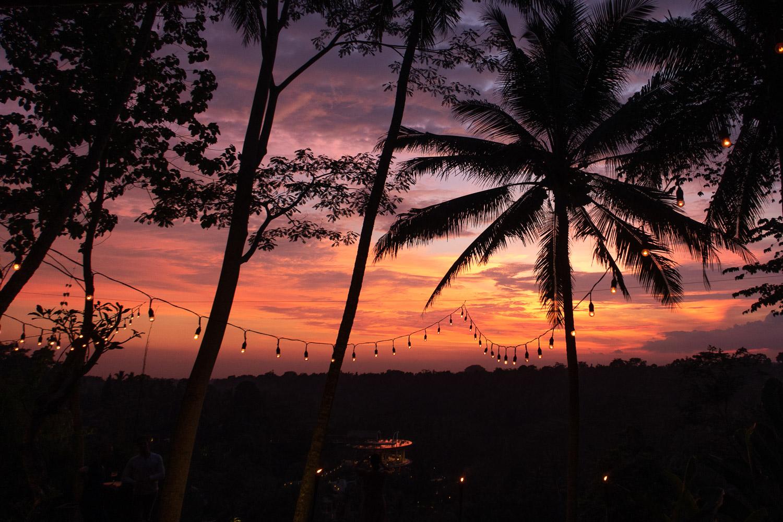 Sunset in Ubud, Bali