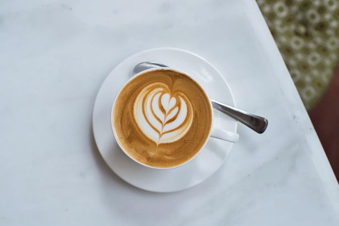 Flat white at The Ned Soho House in Bank, London