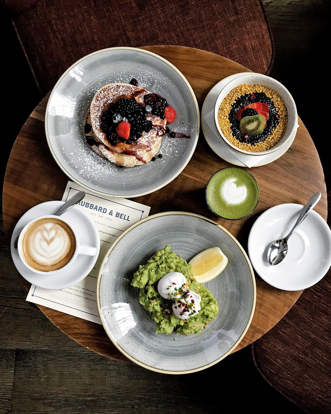 Breakfast at Hubbard & Bell, The Hoxton Hotel, Holborn London