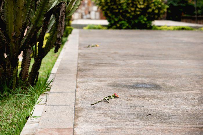 Kigali genocide memorial in Rwanda