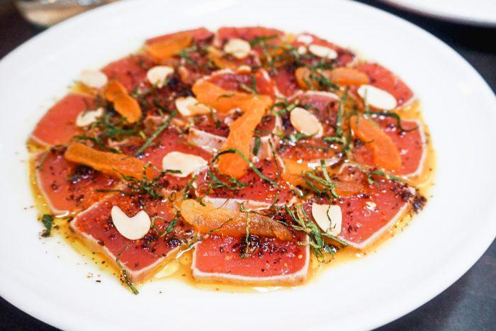 Tuna Tataki - A delicious dinner in Covent Garden at Henrietta Bistro, the new French / Basque restaurant of luxury boutique hotel Henrietta.