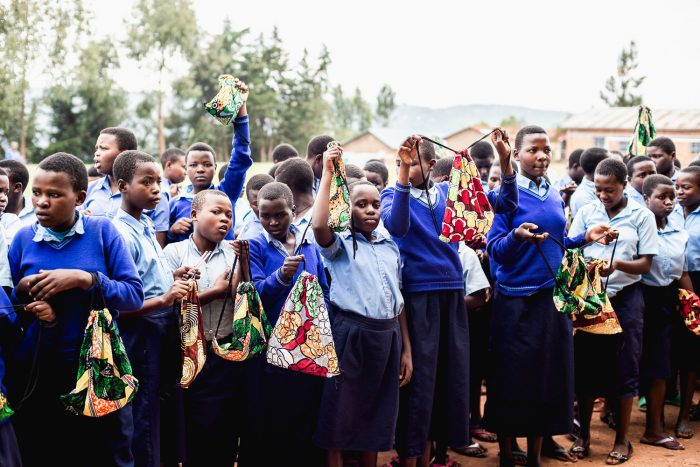 Days for Girls charity period kits at Sorwathe School in Kinihira, Rwanda