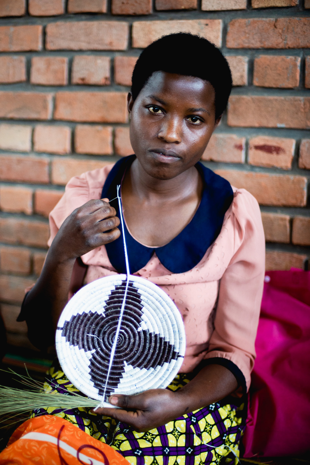 Agaseke basket weaving at Women for Women opportunity center in Kayonzo, Rwanda