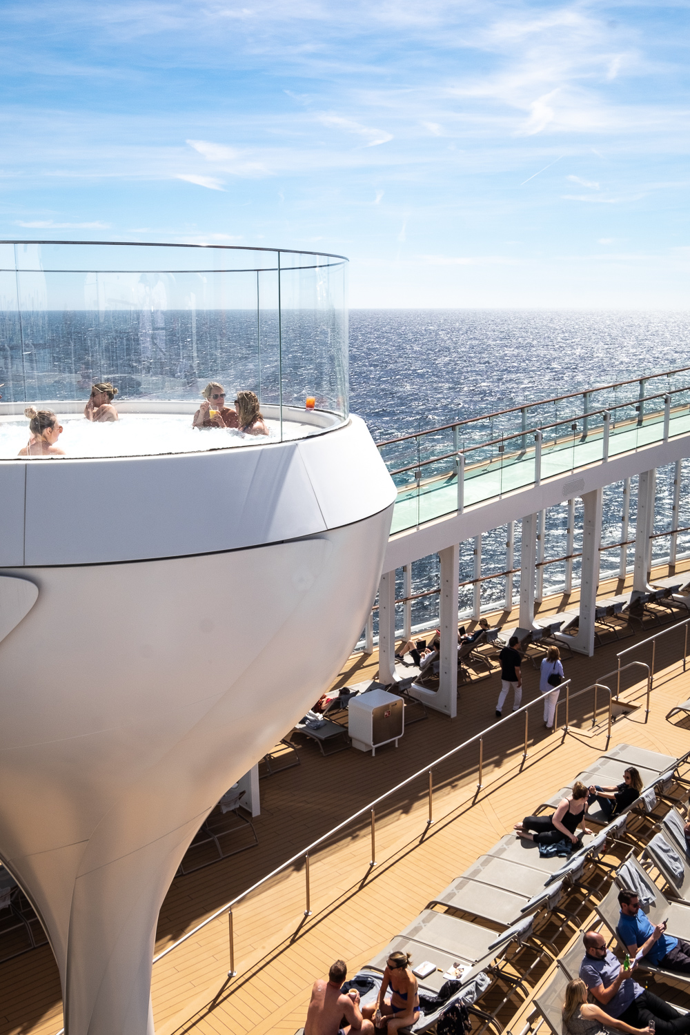 Sun deck | 12 reasons to choose Celebrity Edge for your next cruise | Mondomulia