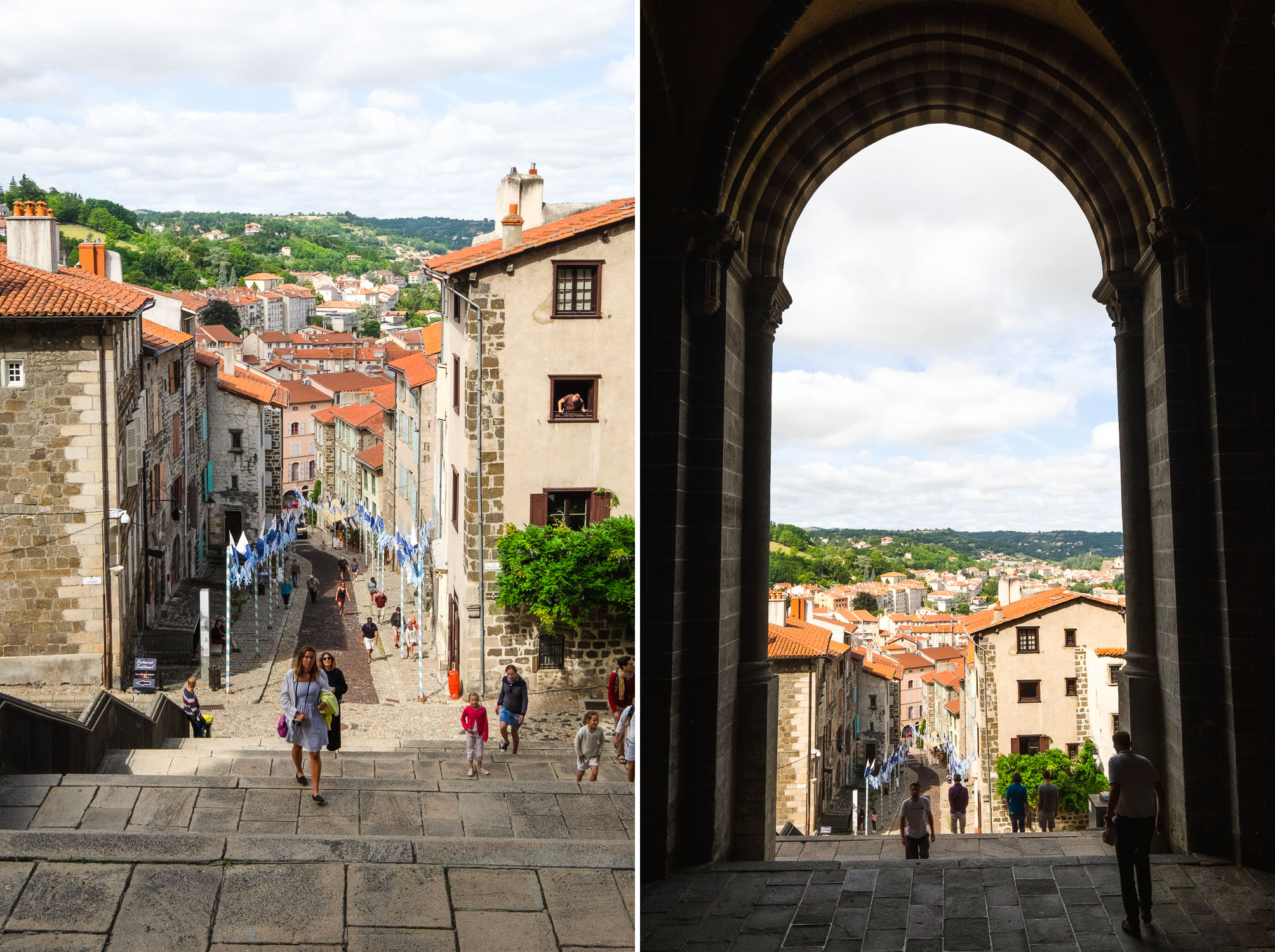 Le Puy en Velay is a picturesque town in the Auvergne region of France. The Cathedral of Our Lady of the Annunciation, a stunning 12th century Romanesque church