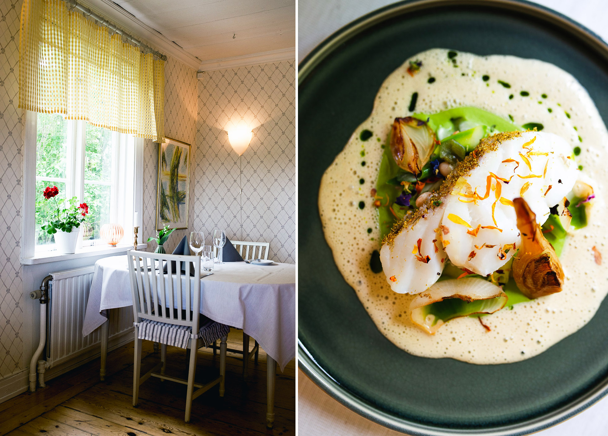 One of the highlights of my trip to Varmland: Ölme Prästgård Gästgiveri was a rectory from the late 18th century, turned guesthouse with high-quality food offerings. The restaurant is located near Karlstad in central-west Sweden