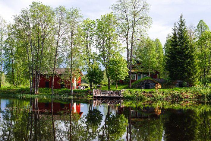 Saxå Bruk manor house by Carl Jan Granqvist in Varmland, Sweden