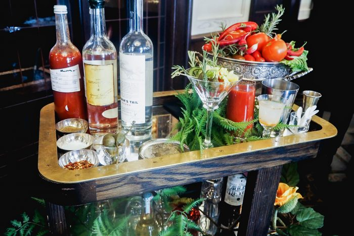 Bloody Mary cart at 34 Mayfair in London