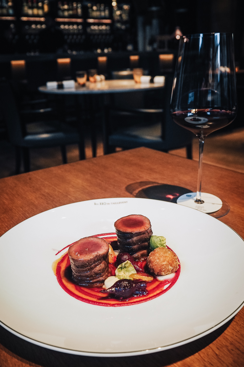 Lunch and wine pairing at Les 110 de Taillevent, a sophisticated and modern French restaurant on Cavendish Square in the heart of Marylebone, London.