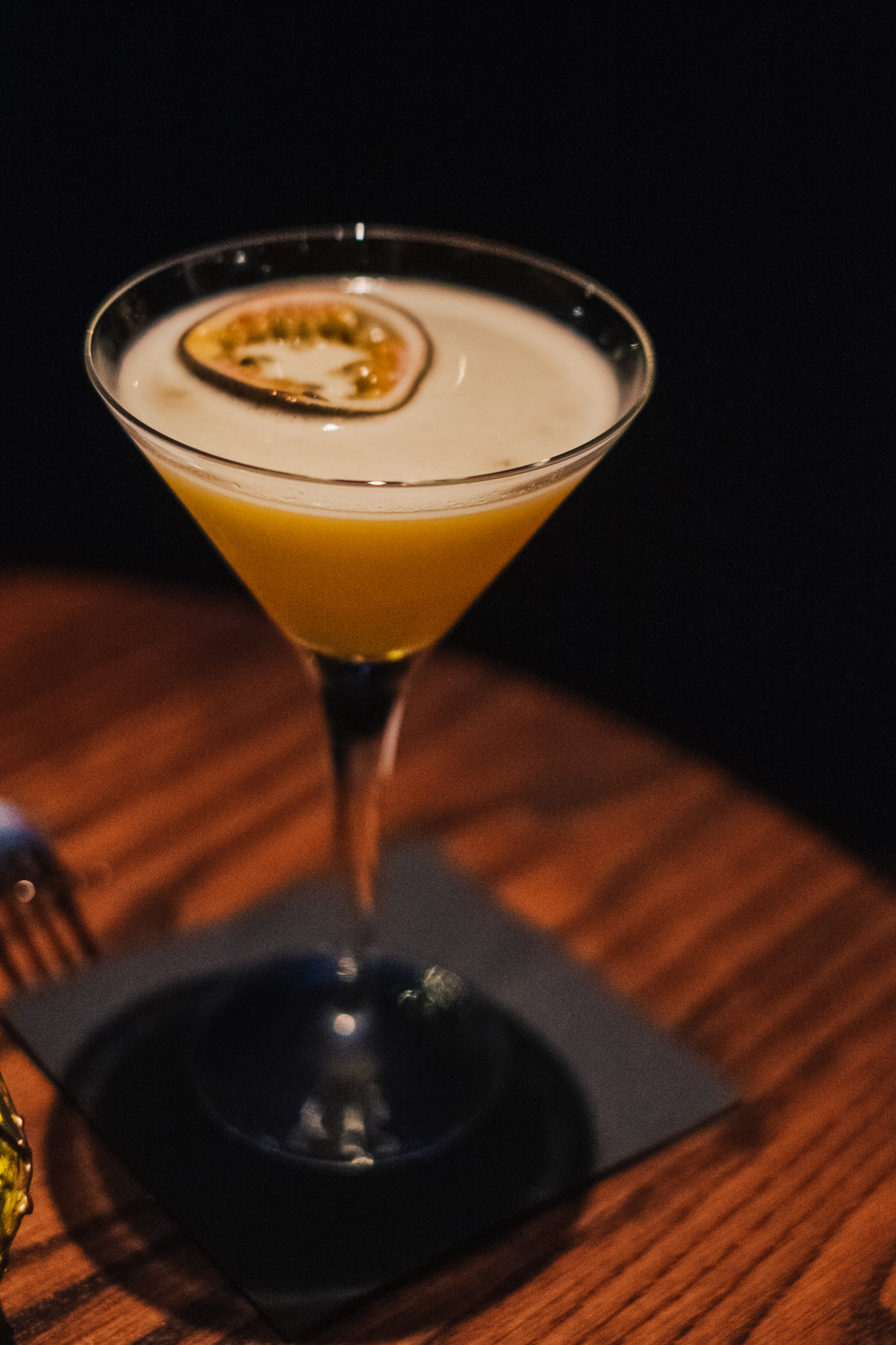 Passion Fruit Chutney Martini at Benares, a modern Indian food with a contemporary British twist in Mayfair London