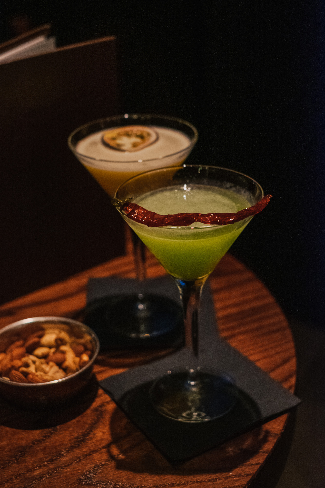 Signature Cocktails at Benares, a modern Indian food with a contemporary British twist in Mayfair London