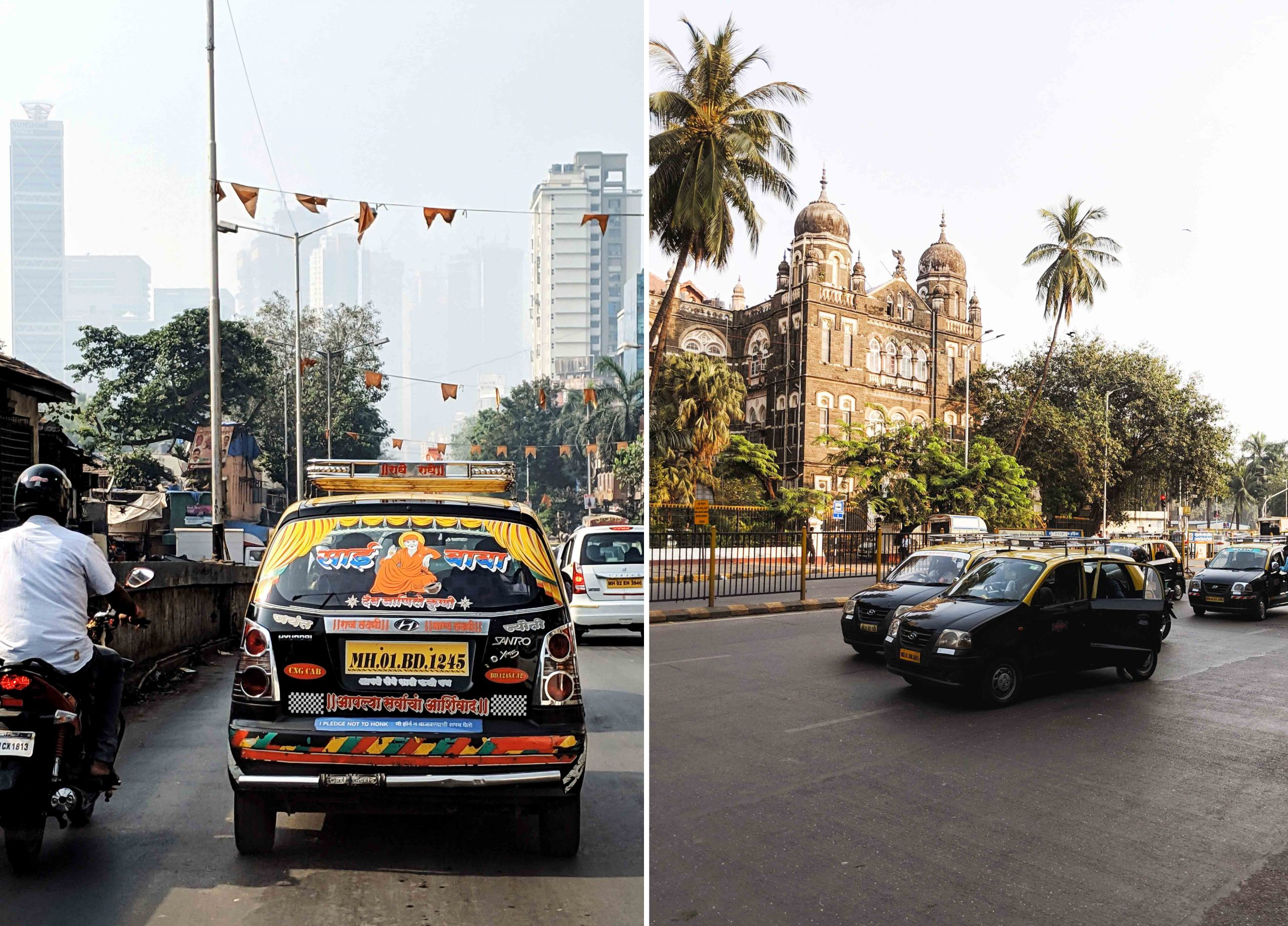 Taxi in south Mumbai can often be a cheap way of getting around the Indian city