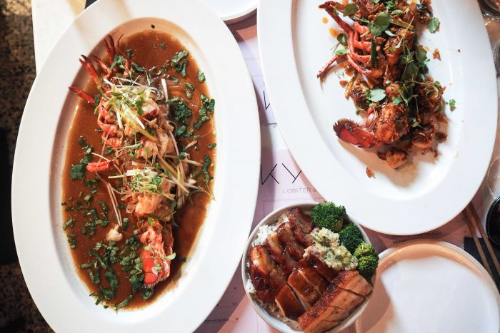 The new Lobster Brunch Saturday menu at Kym's, Andrew Wong's Chinese restaurant in Bloomberg Arcade, London
