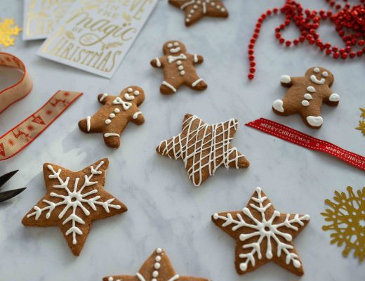Pierniczki are gingerbread cookies with sugar icing traditionally eaten in Poland during the Christmas holidays