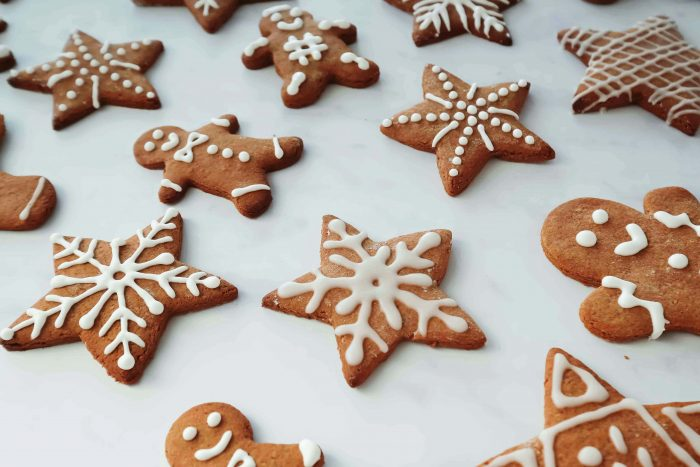 Pierniczki are gingerbread cookies with royal icing traditionally eaten in Poland during the Christmas holidays
