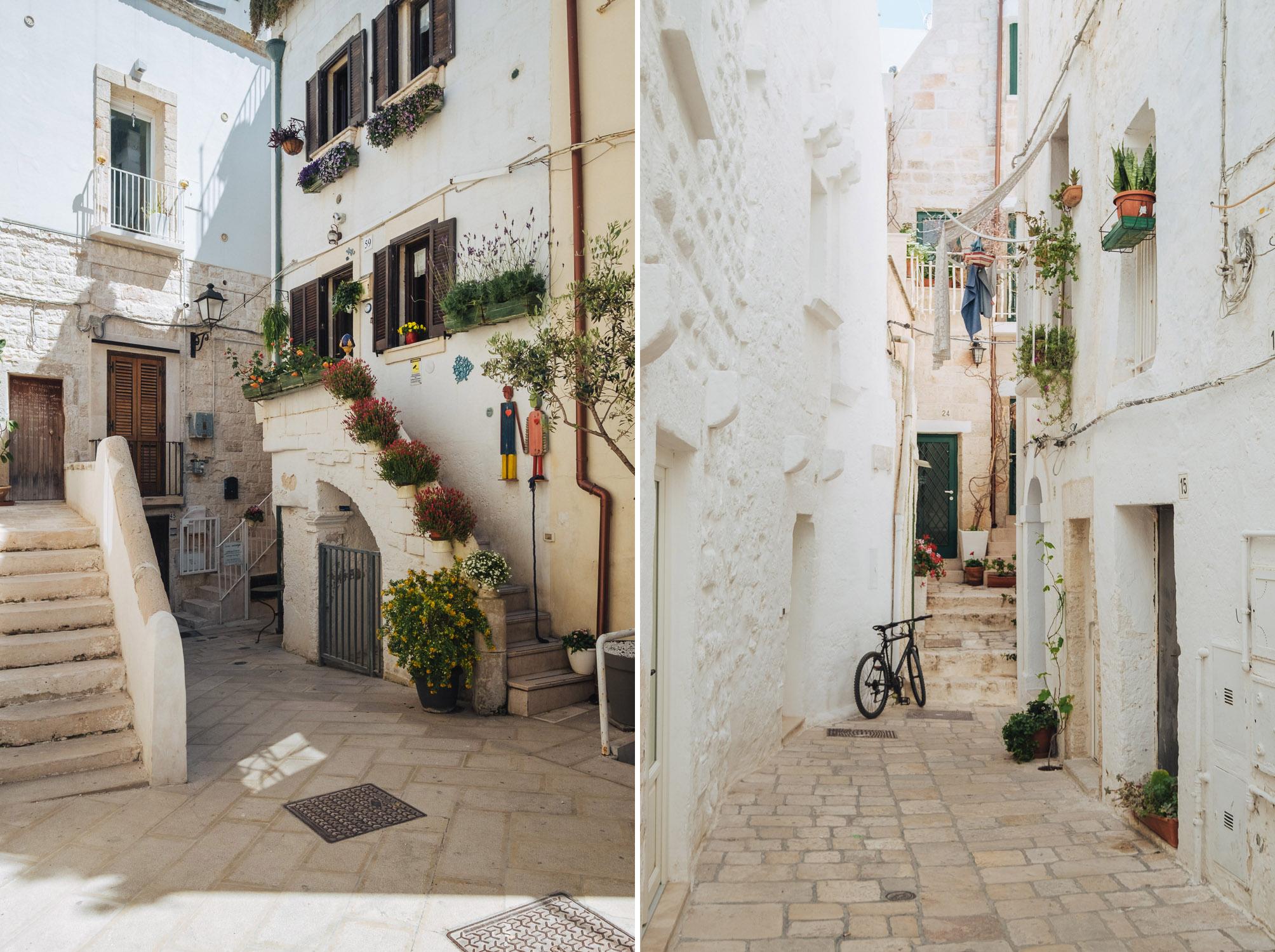 Cozy alleys in the picturesque old town of Polignano a Mare, Puglia   A 7-day Road Trip Through Puglia and Matera   Mondomulia