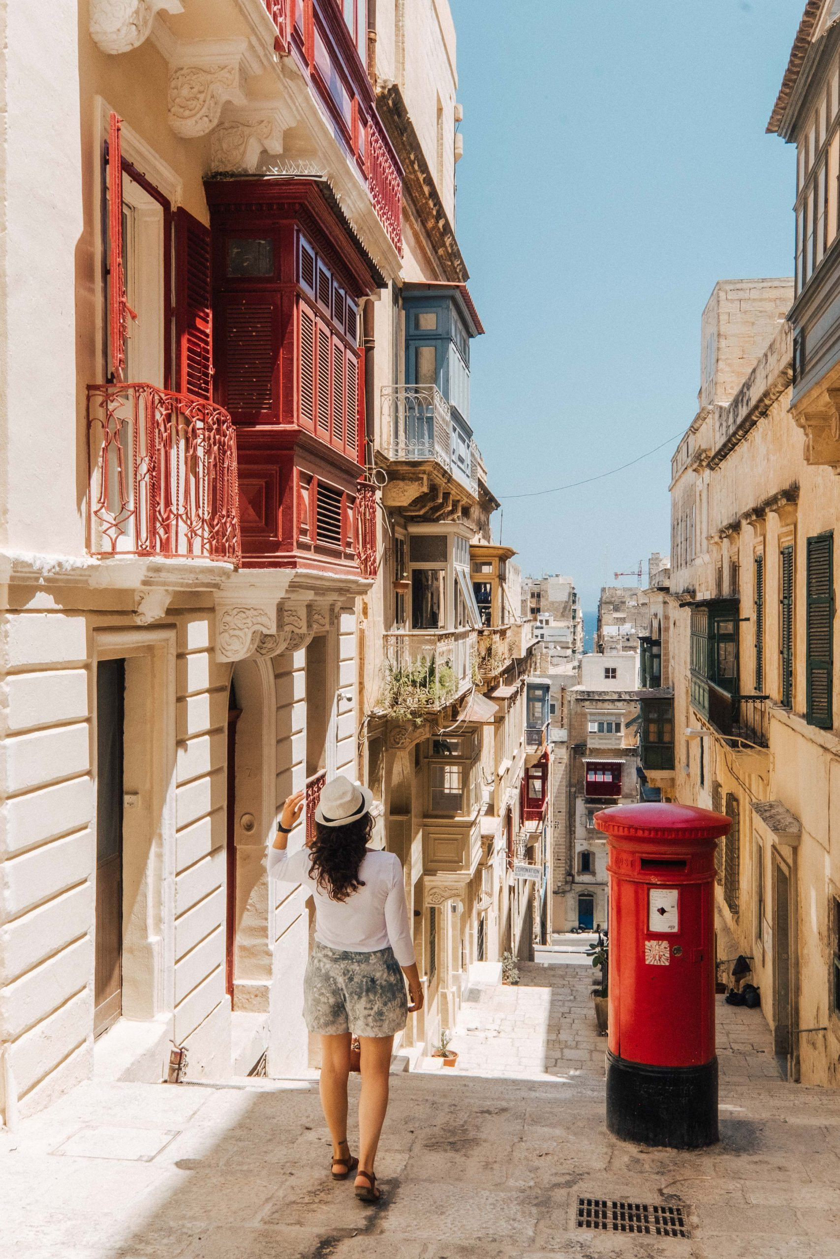 A street in Valletta, Malta, a UNESCO World Heritage Site