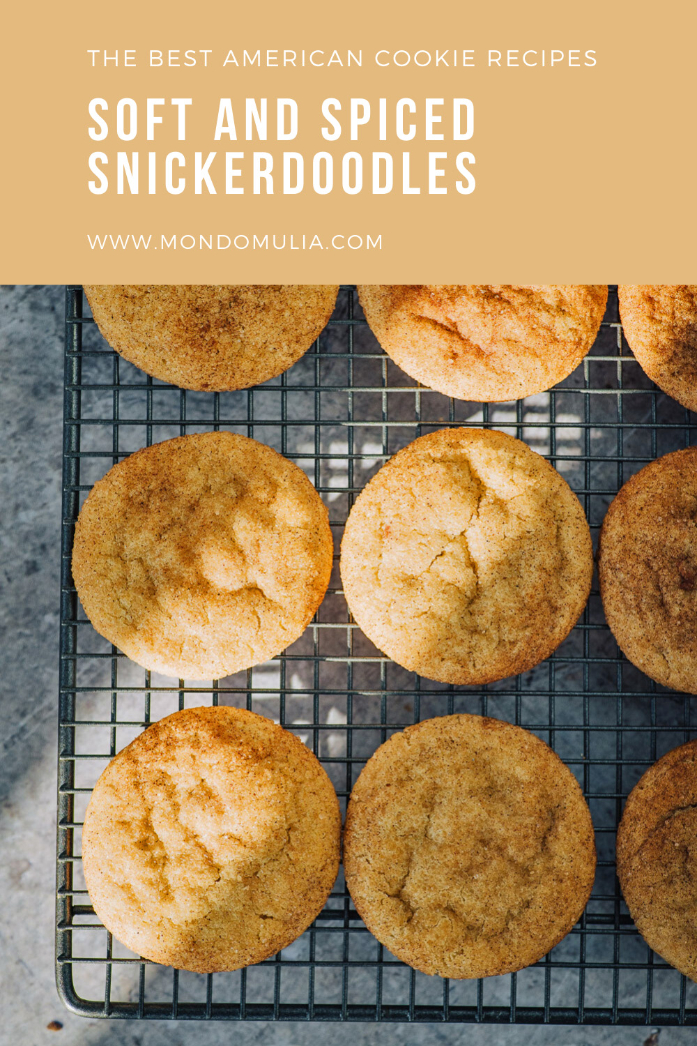 Soft and spiced snickerdoodles cookies   Get the recipe on Mondomulia food blog
