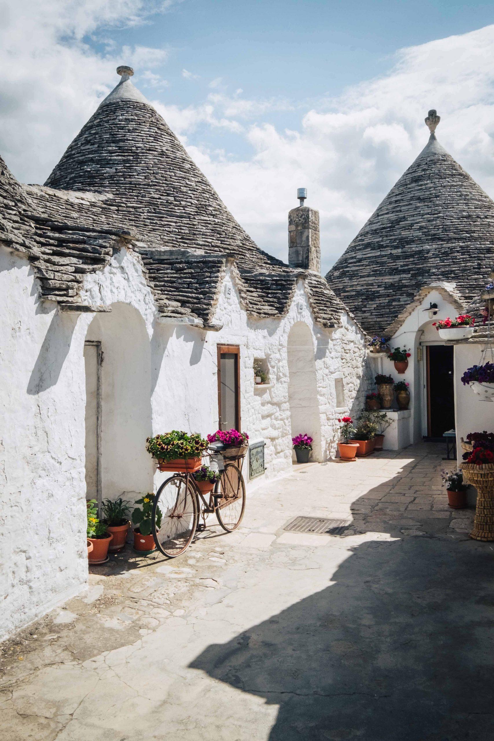 Trulli houses in Rione Aia Piccola, part of the Unesco Heritage Site of Alberobello in Valle d'Itria   A 7-day Road Trip Through Puglia   Mondomulia