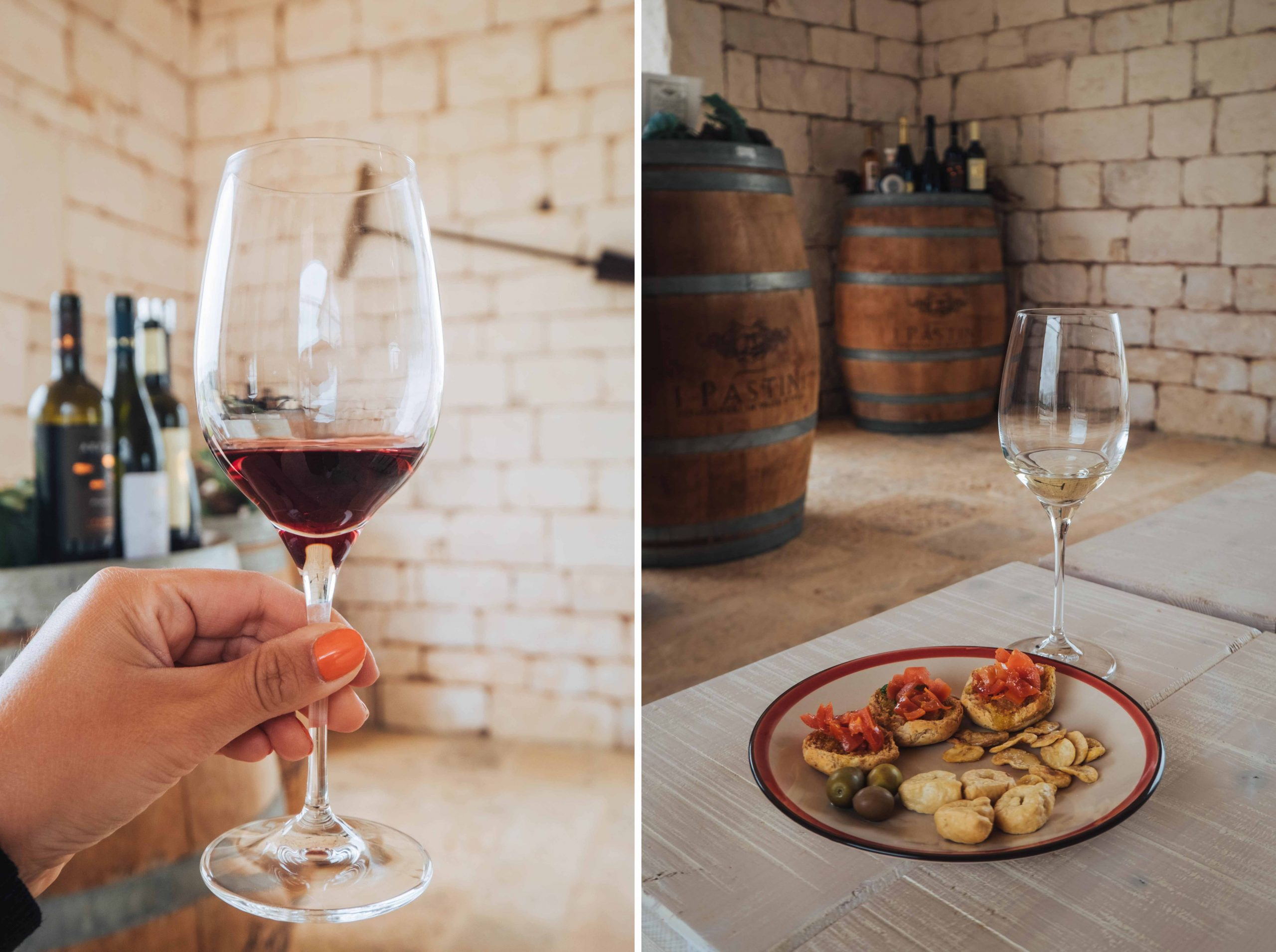 Wine tasting and winery tour at Cantina i Pastini in Valle d'Itria | A 7-day Road Trip Through Puglia | Mondomulia