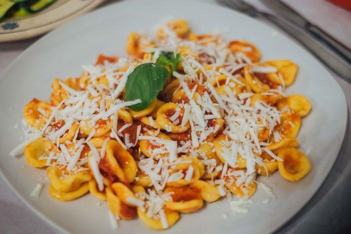 Orecchiette pasta at L'Archetto restaurant in Locorotondo   A 7-day Road Trip Through Puglia   Mondomulia